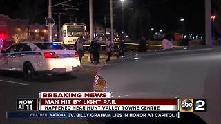 Man struck by Light Rail - Video