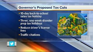 Florida Governor wants longer tax holidays and cuts in license fees - Video