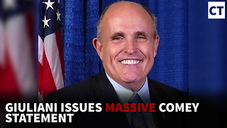 Breaking: Giuliani Issues Massive Comey Statement, No Trump Response Yet - Video