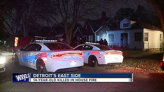 14-year-old killed in house fire on Detroit's west side - Video