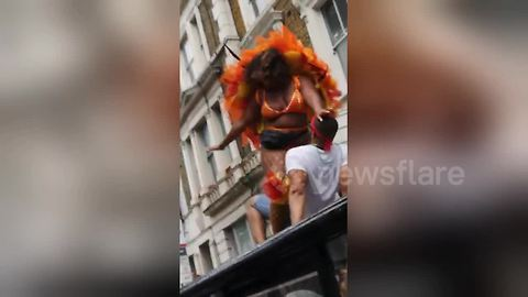 This is the most bizarre Notting Hill Carnival video we've seen yet