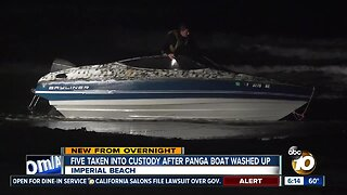 5 people in custody after panga boat washes ashore in Imperial Beach
