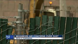 Neighbors concerned with dusty conditions - Video