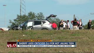 Deputies: Juveniles, adult arrested for armed robbery after leading police on chase, crashing on I-4 - Video