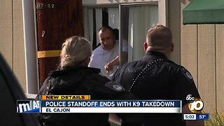Police standoff ends with K9 takedown