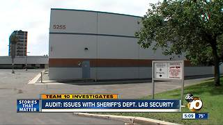 Audit: Issues with Sheriff's Department lab security