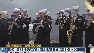 Chinese Navy ships visit San Diego - Video