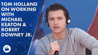 Why Tom Holland thinks Michael Keaton is 'terrifying' - Video