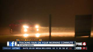 Rainy weather affecting the morning commute in Southwest Florida - 6am live report - Video