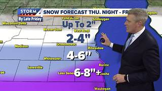 Winter Storm Watch in effect Thursday evening - Video