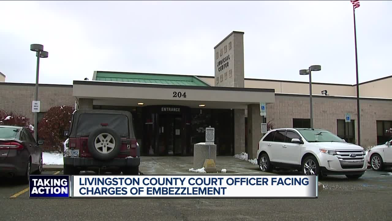 Livingston County court officer facing charges of embezzlement