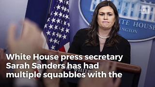 Sarah Sanders Embarrasses White House Reporter In What Could Be Her Best Diss Ever - Video