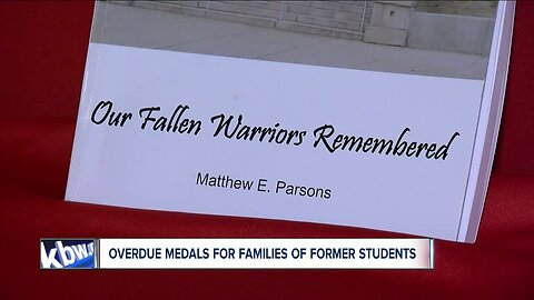 Overdue medals given to families of former South PArk HS students who died in service to the country
