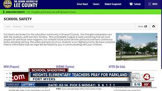 Teachers at Heights Elementary School pray for Parkland - Video
