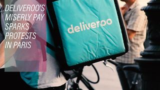 Parisians reject Deliveroo skimping on their riders - Video