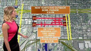 Tampa Bay Traffic | New Year's Eve & Outback Bowl road closures