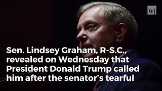 Lindsey Graham Reveals Powerful Message Trump Gave Him After McCain Eulogy