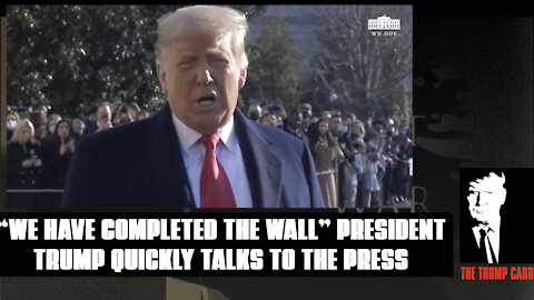 President Trump Quickly talks to the Press.