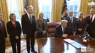 President Trump Signs Executive Order to Decrease Military Suicides - Video