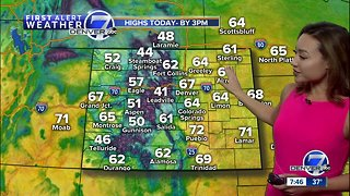Milder and breezy across Colorado Sunday