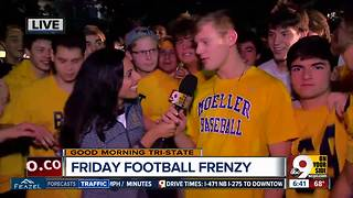 Moeller students prepare for St. X game with early morning tailgate - Video