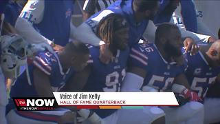 Buffalo Bills players take knee during anthem