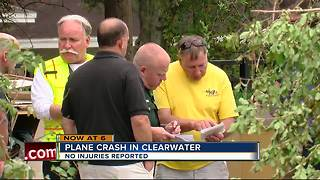 Plane crash in Pinellas County - Video