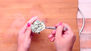 Spinach dip is good but spinach dip stuffed inside of chicken is BETTER - Video