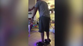 Man Falls Off A Hoverboard - Video