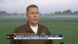 Search for missing 14-year-old girl - Video