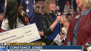 Elevate Foundation presents check to Feeding San Diego - Video