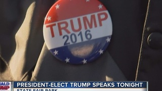Trump fans gather for West Allis rally