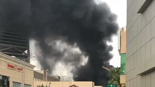 Fire at Construction Site Sends Plumes of Black Smoke Over Riyadh - Video