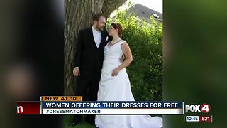 Viral hashtag helping women find wedding dresses - Video