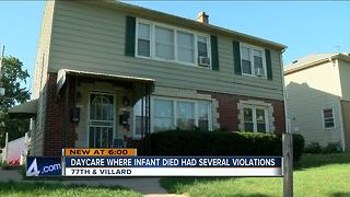 Daycare where infant died cited nine times in June - Video