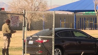 Car crashes into elementary school fence