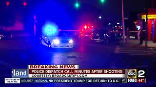 Police dispatch calls made moments after detective shot - Video