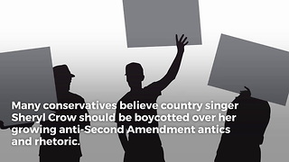 Conservatives Boycotting Sheryl Crow Over Anti-gun Views - Video