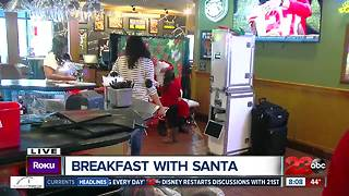 Breakfast with Santa at Applebee's benefiting League of Dreams - Video