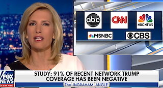 Media coverage of Trump is 91% negative, study finds