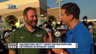 Waterford Mott takes on Waterford Kettering in rivalry game - Video