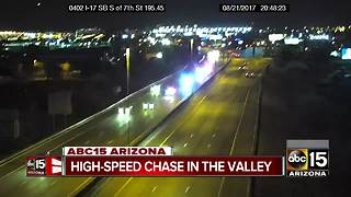 Police pursue vehicle across three Valley freeways - Video