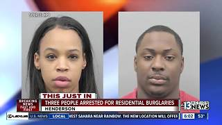 UPDATE: 3 arrested in Henderson door-kick burglary case - Video