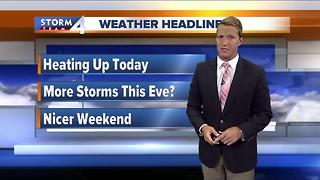 Temps rise, storms possible late - Video