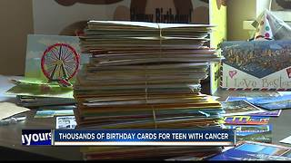 Boise teen fighting cancer gets thousands of birthday cards - Video