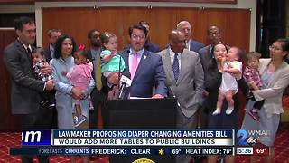 Proposed legislation would add more diaper changing tables to public buildings - Video