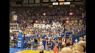 Fans Go Wild Showing Their Support Ahead of Kansas College Basketball Game