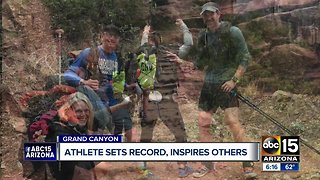 Blind woman sets Grand Canyon hike record