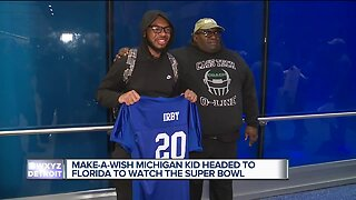 Make-A-Wish Michigan teen headed to Florida for the Super Bowl