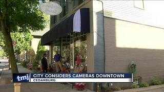 Cedarburg mulls surveillance cameras downtown - Video